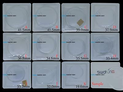 NEW SWATCH Plexi Glass Crystal Replacement Fit All Sizes Watch Case Spare Parts