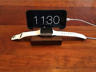 Apple Watch and iPhone Docking Station - Walnut Wood