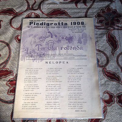 PIEDIGROTTA Collection (5 Magazines) Four from 1908 & One from 1912 (Italian)