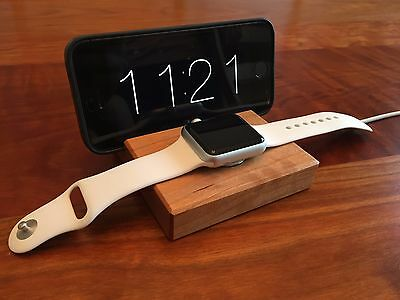 Apple Watch and iPhone Docking Station - Cherry Wood