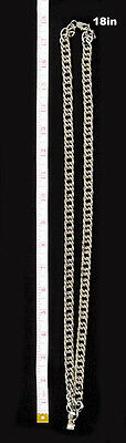 "Clergy Chain For Pectoral Cross, Silver, Stainless Steel, 36"", (SUBS 545)"