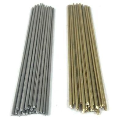 """3/32"""" Pin Round Rod Knifemaking- BRASS, STAINLESS STEEL, COPPER- 2 pcs x 6"""""""