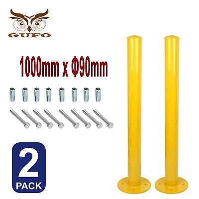 2x SECURITY BOLLARD SAFETY POST BARRIER PROTECT PARKING HEAVY STEEL