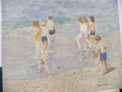 THE WOUNDED FOOT CHILDREN PLAYING ON THE BEACH PAINTING BY JOAQUIN SOROLLA REPRO