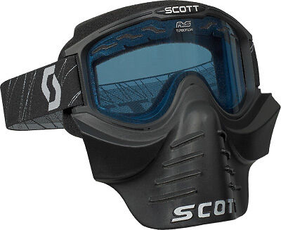 Scott USA Black 83X ATV Snowmobile Goggle w/ Facemask & Amp Rose Lens