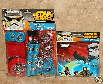 ~ Birthday Party Supplies Toys Treat Loot Mix STAR WARS Rebels FAVOR PACK 48pc