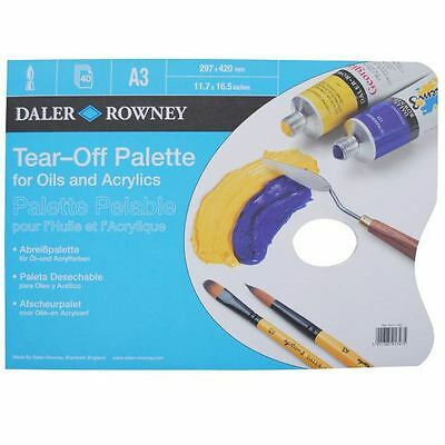 Hobbycraft Daler-Rowney Tear Off Palette for Oil Painting Acrylics White