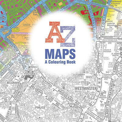 Maps - A Colouring Book - An Adult Colouring Book Adventure