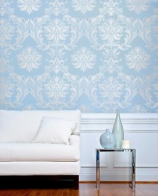 Gabrielle Damask Stencil - Reusable Stencils for DIY Decor - Wall, Fabric, Craft