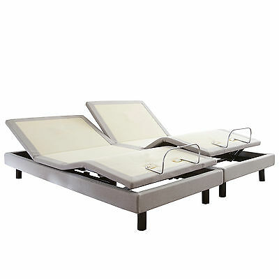 reverie 8q adjustable bed with head tilt and bluetooth