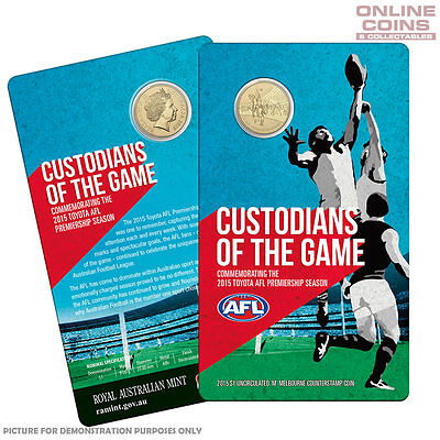 2015 RAM Custodians of the Game - AFL Premiership $1 Uncirculated Coin in Card