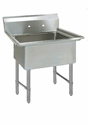 (1) One Compartment Commercial Stainless Steel Utility Prep Mop Sink 23 x 29.5