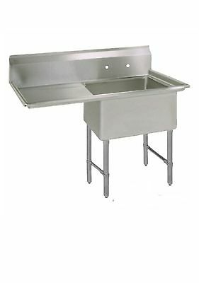 (1) One Compartment Commercial Stainless Steel Prep Pot Sink 36.5 x 25.5