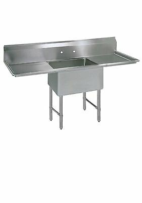 (1) One Compartment Commercial Stainless Steel Prep Pot Sink 54 x 29.5