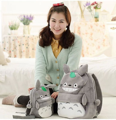 My Neighbor Totoro Cartoon Soft Plush Backpack Shoulder Bag for Kids Gift XS