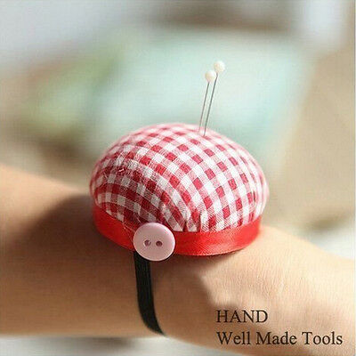 Red Check Wrist Pin Cushion, 60mmW, Tailor, Students