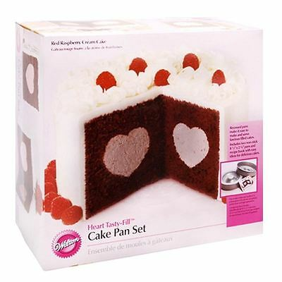 Hobbycraft Wilton Heart Tasty Fill Cake Pan Set Cake Decorating Mould Non Stick
