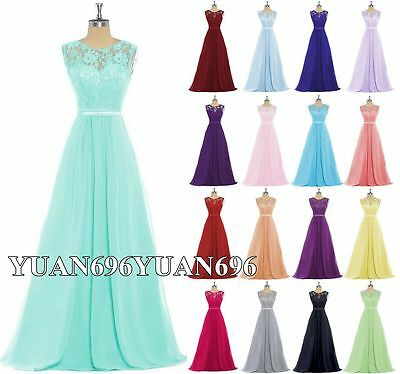 New Formal Lace Evening Cocktail Party Ball Gown Prom Bridesmaid Dress Size 6-18