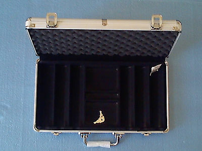 Poker Chip Case, 300 chip capacity heavy gauge aluminum