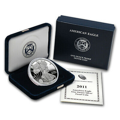 2011-W 1 oz Proof Silver American Eagle (w/Box & COA) - SKU #63303