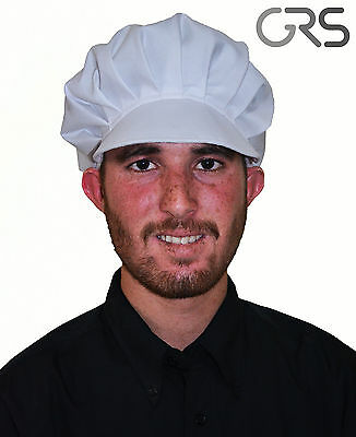Chef Bakers Cap Catering Hat Bouffant Cap In White Color Polycotton