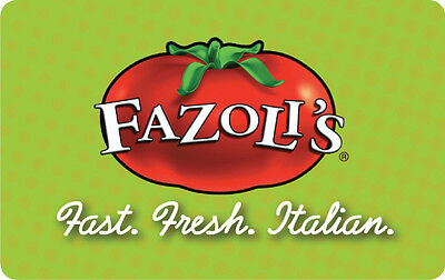 $25 / $30 / $40 / $50 Fazoli's Physical Gift Card - FREE 1st Class Mail Delivery