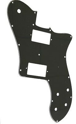 Telecaster guitar 72 MIM deluxe pickguard 3ply black for standard humbuckers new