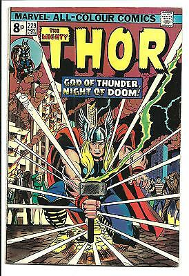 Thor # 229 (God Of Thunder, Nov 1974), Fn/vf