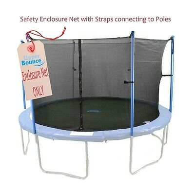 Upper Bounce 10 Trampoline Enclosure Safety Net Fits For 10 FT. Round Frames NEW