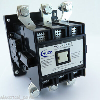 New 150A 150Amp Lighting Contactor Yc-Lheh145-2 Fits Abb Eh 145 120V Coil W/lugs
