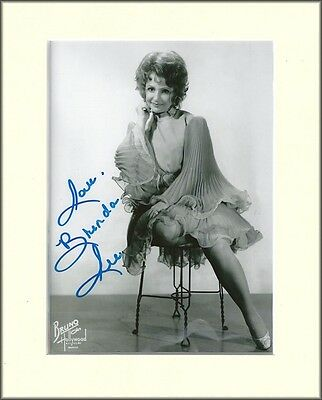 BRENDA LEE COUNTRY AND WESTERN PP 8x10 MOUNTED SIGNED AUTOGRAPH PHOTO