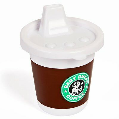 Gamago Rise & Shine Sippy Cup, Baby Ducks Coffee