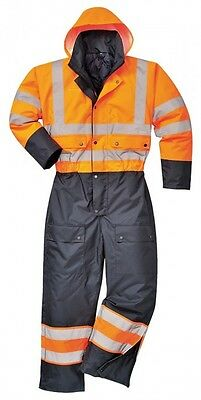 Portwest Waterproof  Hi-Vis Contrast Coverall Waterproof – Quilted Lining s485