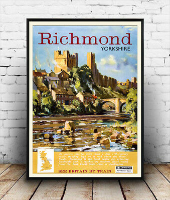 Richmond : Vintage Travel advertising poster, Wall art.