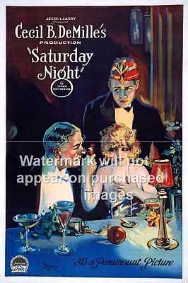 Saturday Night : Vintage Movie advertising poster, Wall art.