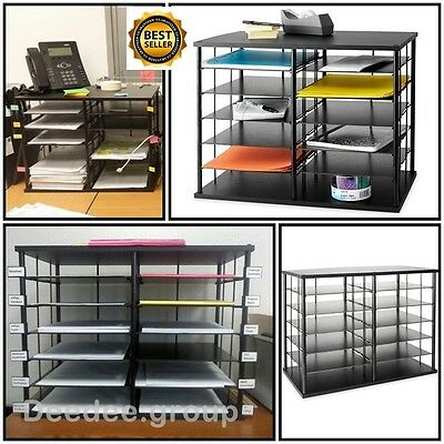 Office Storage Organizer Shelves Desk Cabinet Holders Paper File Tray School Box