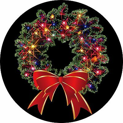 Christmas Wreath Spare Tire Cover Wheel Cover Jeep RV Camper(all sizes available