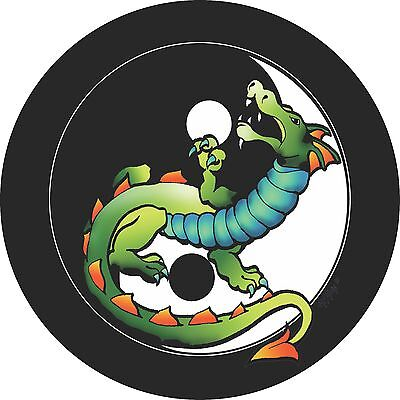 Ying Yang Dragon Spare Tire Cover Jeep RV Camper VW trailer etc(all sizes avail)