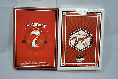 (2) NEW SEALED Seagrams 7 Smirnoff Ice Vegas Playing Cards Deck Poker Set of 2
