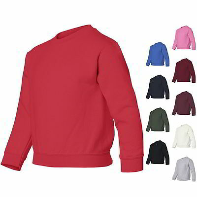 Gildan Youth Boys & Girls Heavy Blend Crewneck Pullover Sweatshirt 18000B