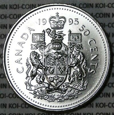 BU UNC Canada 1995 50 cent 50c half dollar coin from mint roll