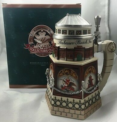 1999 Budweiser Clydesdale Stable Club Member Membership Stein New