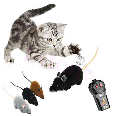 Pet Cat Puppy Toy Wireless Remote Control RC Electronic Rat Mouse Mice Toys Gift