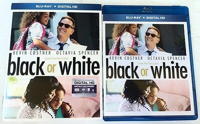 Black Or Whiite Blu Ray + Slipcover Sleeve Free Shipping World Wide Kevin Costne