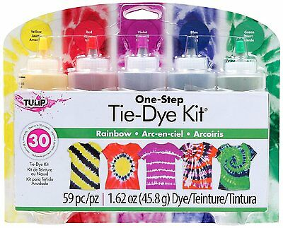 Tulip One-Step 5 Color Tie-Dye Kits Rainbow,1.62oz by Tulip 31674 FREE SHIPPING