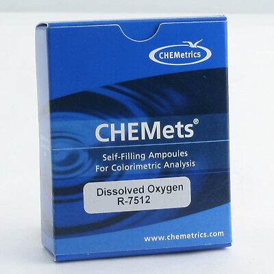CHEMets Water Test Kit Refill Dissolved Oxygen 30 Tests