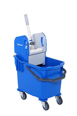 25L Professional Heavy Duty Kentucky Mop Bucket With Wheels - Blue