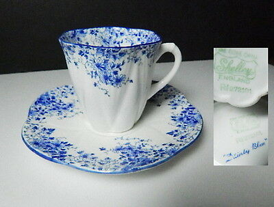Shelley DAINTY BLUE Demitasse Cup & Saucer