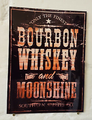 bourbon whiskey, Retro metal Aluminium Sign vintage bar pub man cave beer signs