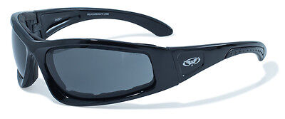 New Global Vision UV400 Shatterproof Motorcycle Sunglasses/Biker Glasses + Pouch